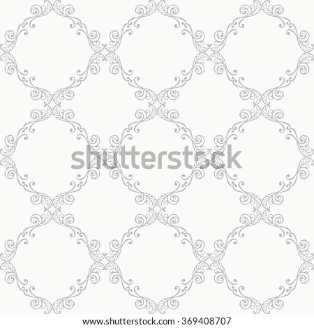 Floral damask seamless lace pattern. Vintage seamless baroque wallpaper. Vector illustration. - stock vector