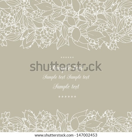Floral decor - stock vector