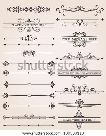 Floral Design Elements and Page Decoration - stock vector