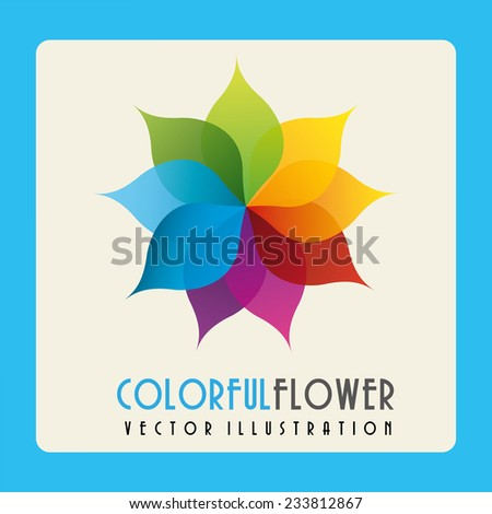 floral design , vector illustration - stock vector
