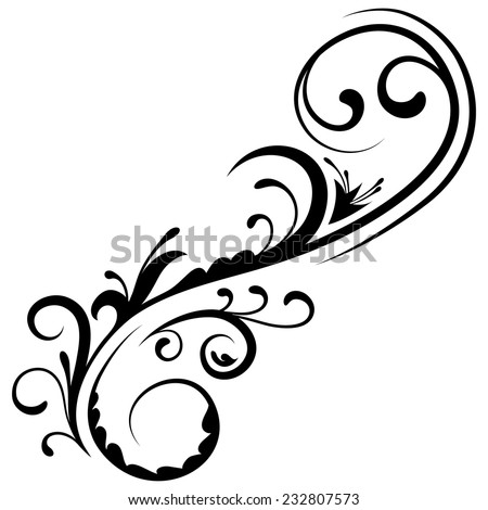 Floral element 17 - stock vector