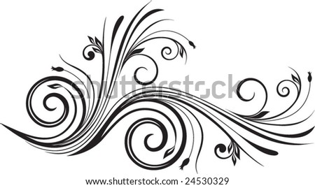 floral element - stock vector