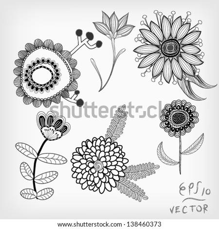 Floral Elements background for design, EPS10 Vector - stock vector