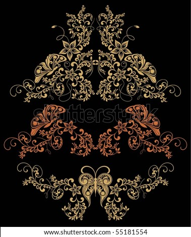 floral elements for design - stock vector