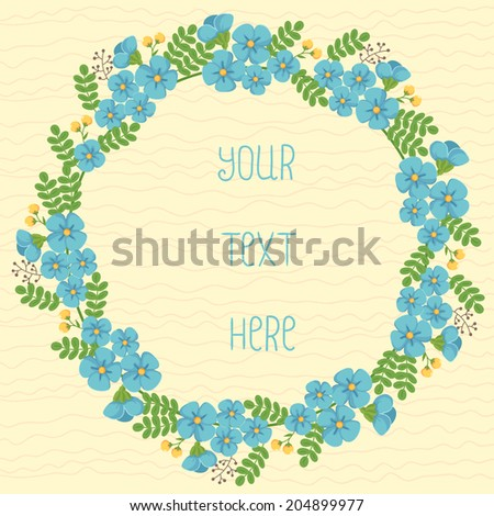 Floral Frame - stock vector