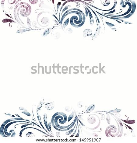Floral frame. Vintage wedding background. - stock vector