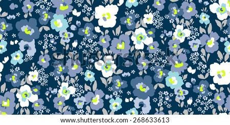 floral garden seamless pattern - stock vector