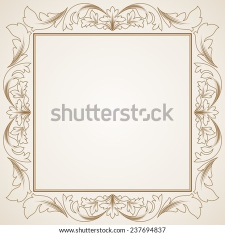 Floral greeting card. - stock vector