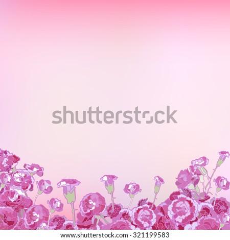 Floral greeting card, congratulations. wedding invitations. Vector - stock vector