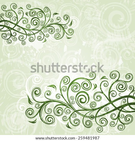 Floral grunge background  - stock vector