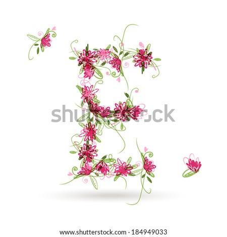 Floral letters stock vectors amp vector clip art shutterstock