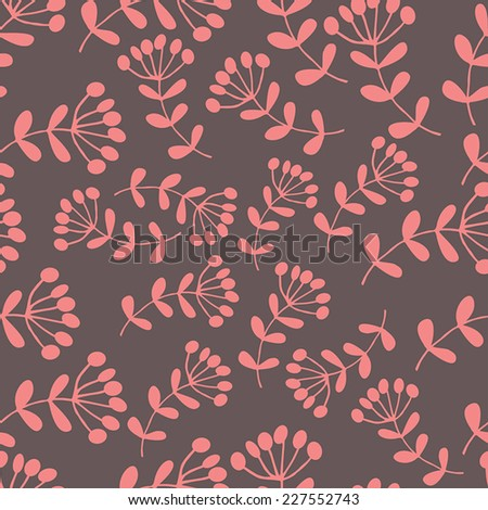 Floral modern seamless pattern. Beautiful background  - stock vector