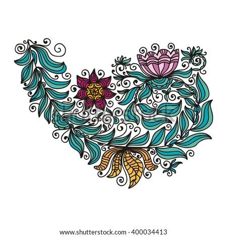 Floral nature pattern design element vector illustration - stock vector