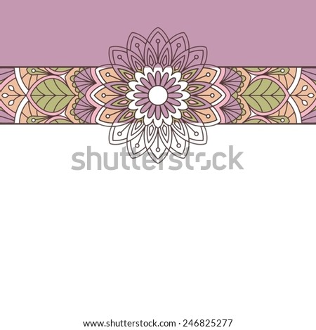 Floral oriental pattern - stock vector