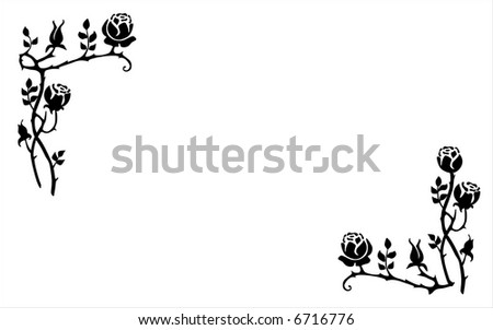 floral ornament - stock vector