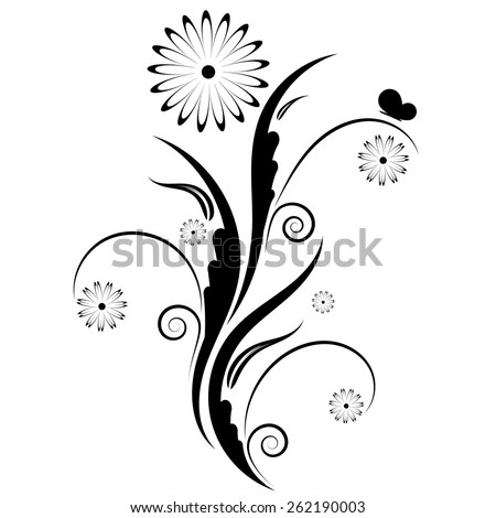 Floral ornament on a white background. vector  - stock vector