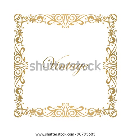 Floral ornamental decorative frame vector - stock vector