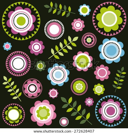 floral pattern - stock vector