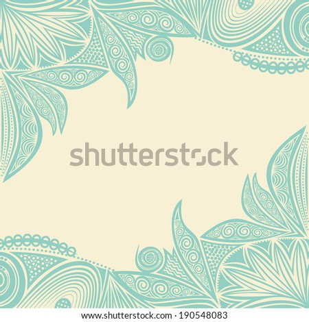 Floral pattern background invitation card vector illustration - stock vector