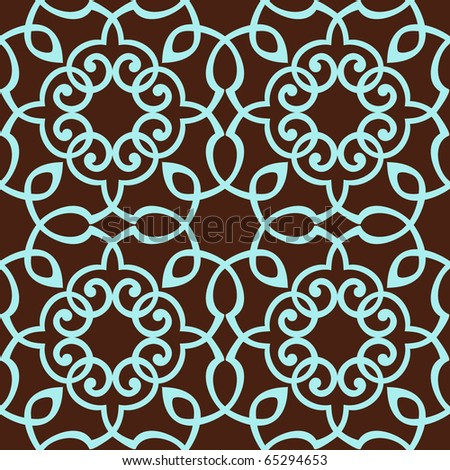 Floral pattern. Seamless background. - stock vector