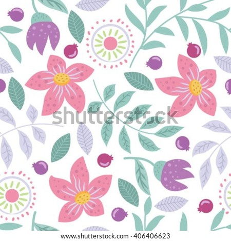 Floral pattern vector - stock vector
