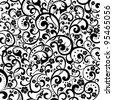 Floral pattern. Vintage vector illustration. - stock vector
