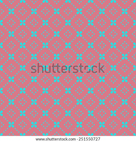 floral pattern with dots. can by tiled seamlessly. - stock vector