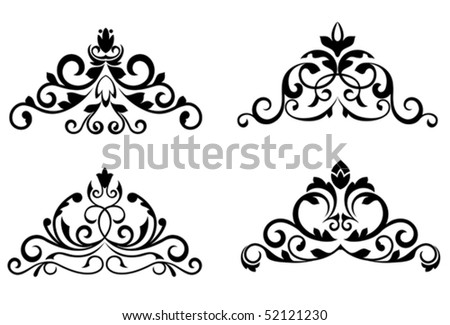 Floral patterns and borders for design and ornate. Jpeg version also available in gallery - stock vector