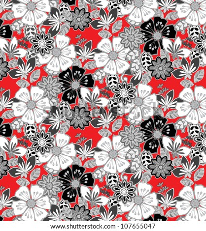 floral print suitable for informal fabric pattern - stock vector