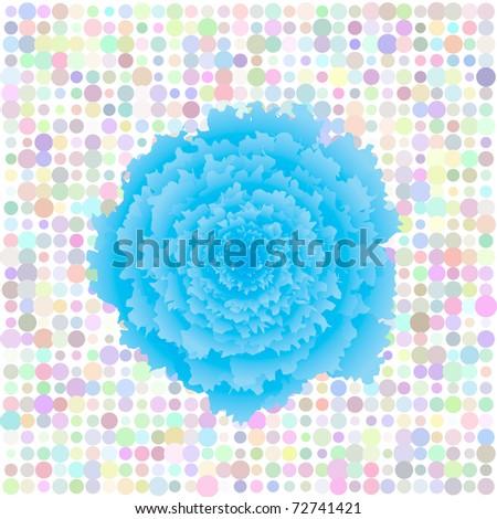 Floral retro vector pop art background - stock vector