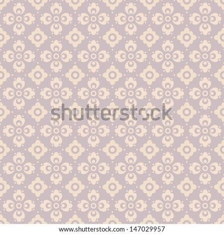 Floral Seamless Background Pattern - stock vector