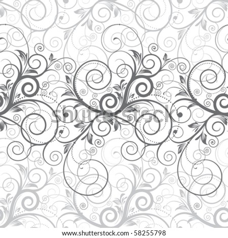 Floral seamless background. Vector layered. - stock vector