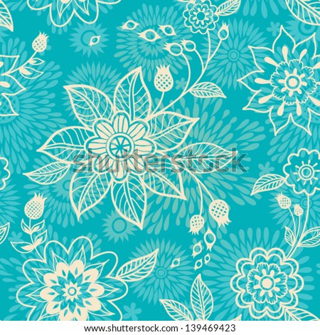 Floral seamless pattern. - stock vector