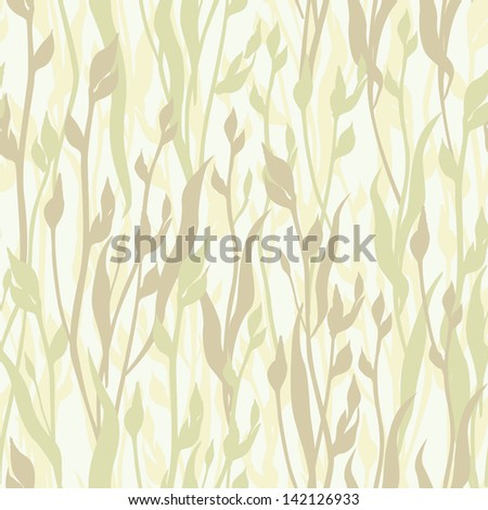 floral seamless pattern. flowers and leaves background. - stock vector