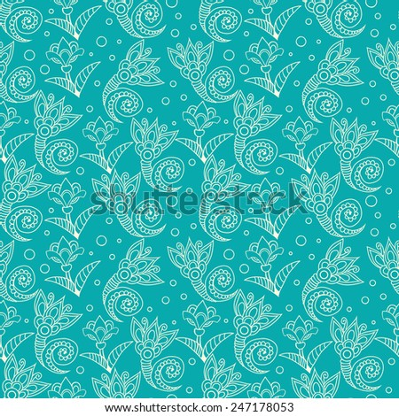 Floral seamless pattern. Ready to use - just drag and drop to your swatch panel. - stock vector