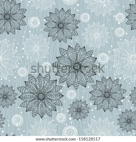 Floral seamless pattern with flowers. - stock vector