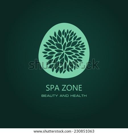 Floral symbol of spa. Logo. Vector Icon - stock vector
