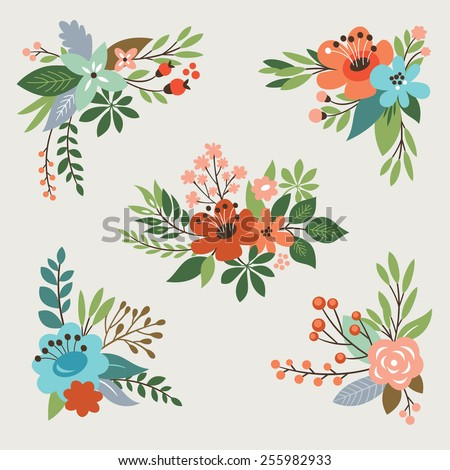 floral vector collection - stock vector