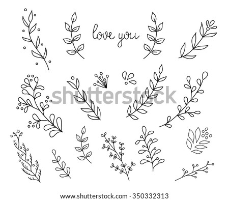Flourish swirl ornate decoration for pointed pen ink calligraphy style. Quill pen flourishes. For calligraphy graphic design, postcard, menu, wedding invitation, romantic style. - stock vector