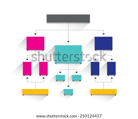 Flow chart. Simply editable without text. Infographics element. - stock vector