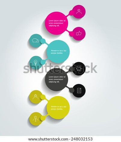 Flowchart diagram, scheme. Infographic element. - stock vector