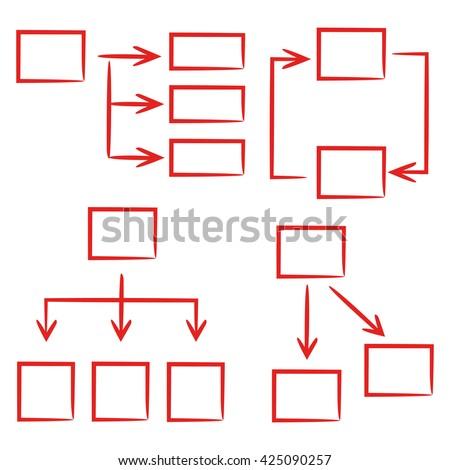 flowchart vector design set - stock vector