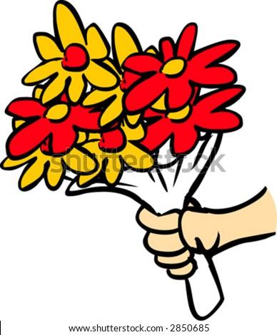 Giving Flowers Stock Vectors Amp Vector Clip Art