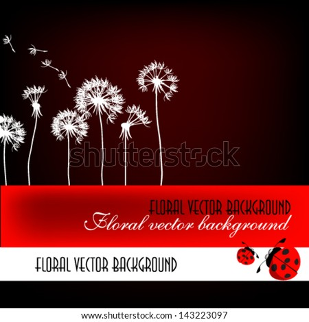 flower abstraction with dandelions - stock vector