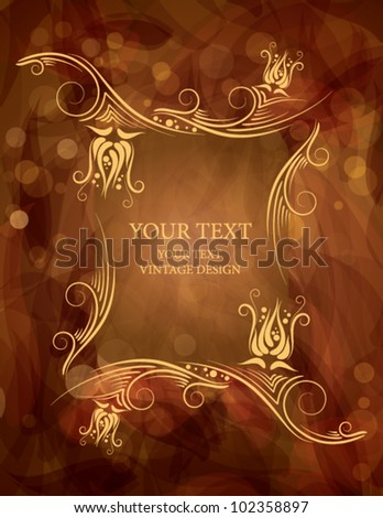 Flower Background with place for your text - stock vector