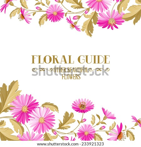 Flower background with violet flowers for yor wedding design in provence style. Vector illustration. - stock vector