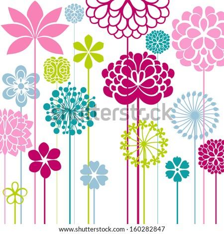 Flower bed - stock vector