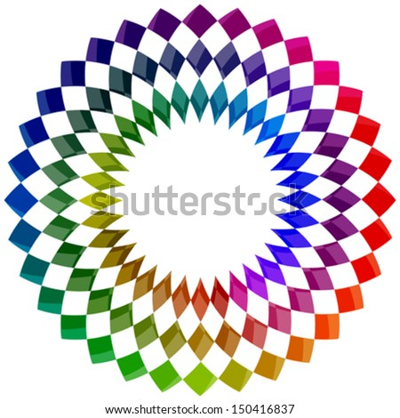 flower color palette against white background, abstract vector art illustration, image contains transparency - stock vector