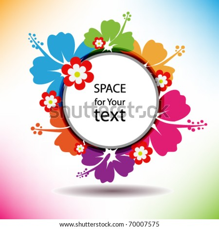 Flower colorful banner. Vector. - stock vector