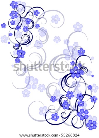 flower decoratively stylized abstraction illustration - stock vector